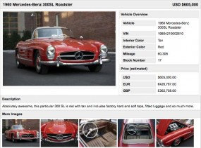 Sample Cars for Sale Detail Page