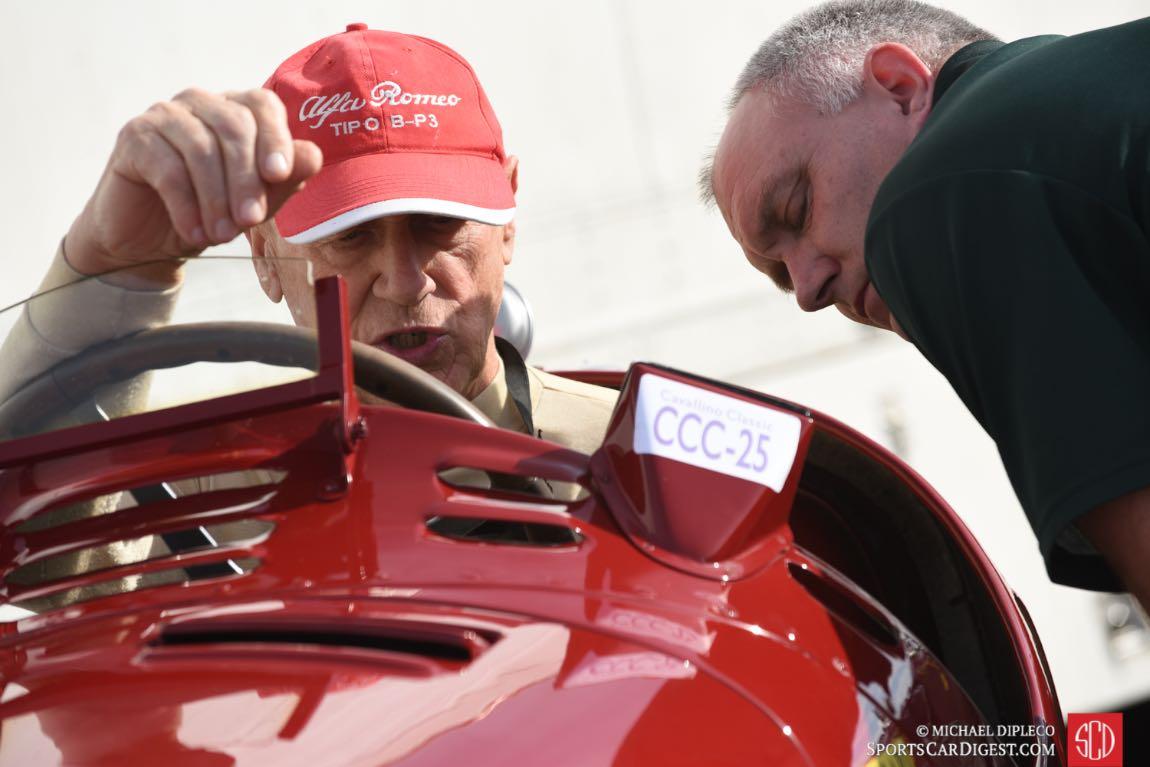 Peter Giddings in his Alfa Romeo Tipo B P3 s/n 5006