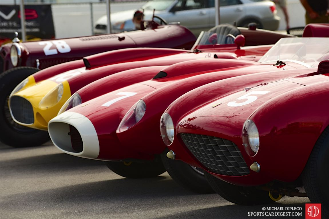 Ferrari 375 MM, Ferrari 250 TR and Ferrari 290 MM