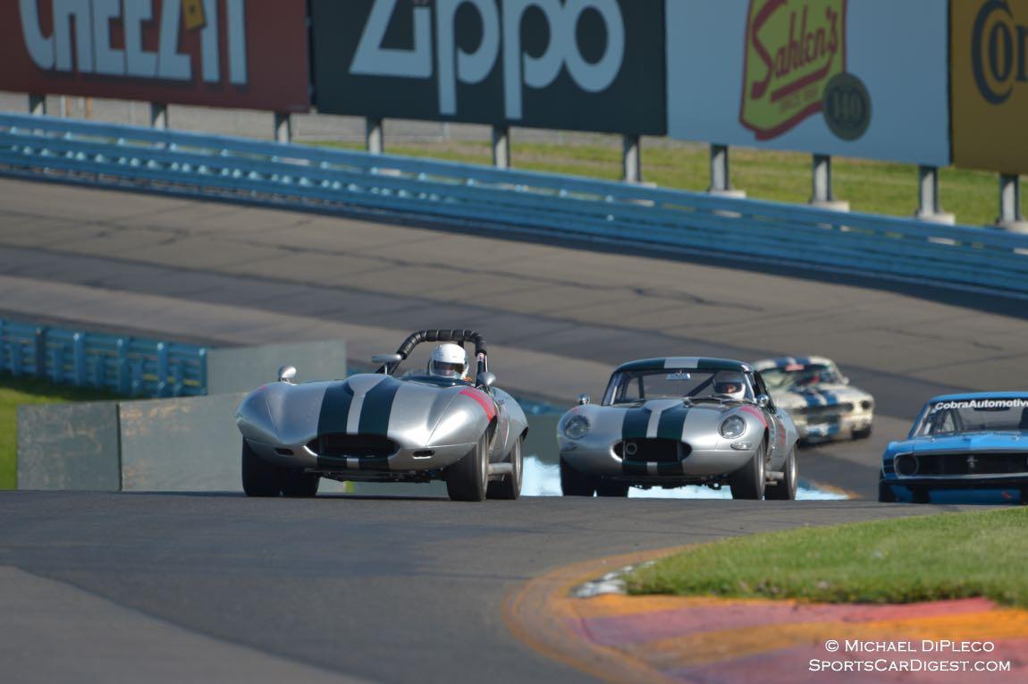 Donovon Motorcars Jag XKEs head up the esses.
