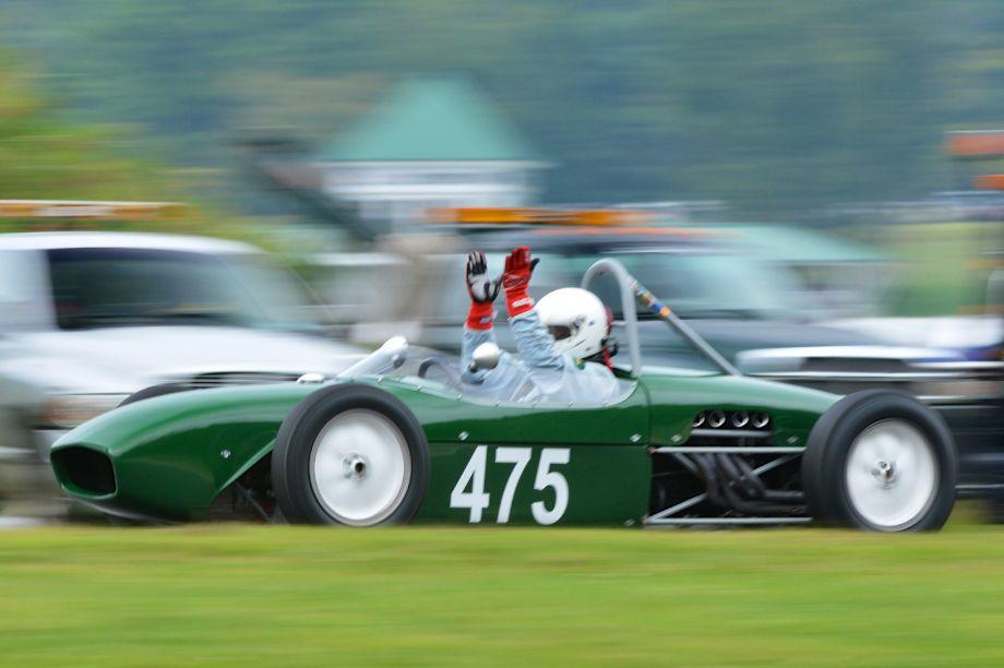 Roger Ealand of Kingscliff, NSW, Australia with his 1959 Lotus 18 Formula Junior