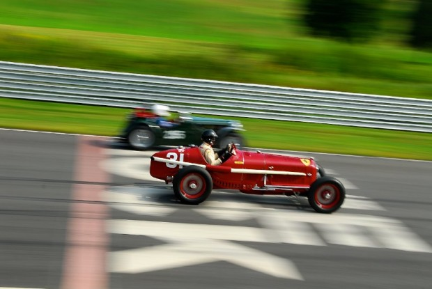 1931 Alfa Romeo Tipo B P3 of Peter Giddings at Lime Rock Vintage Festival