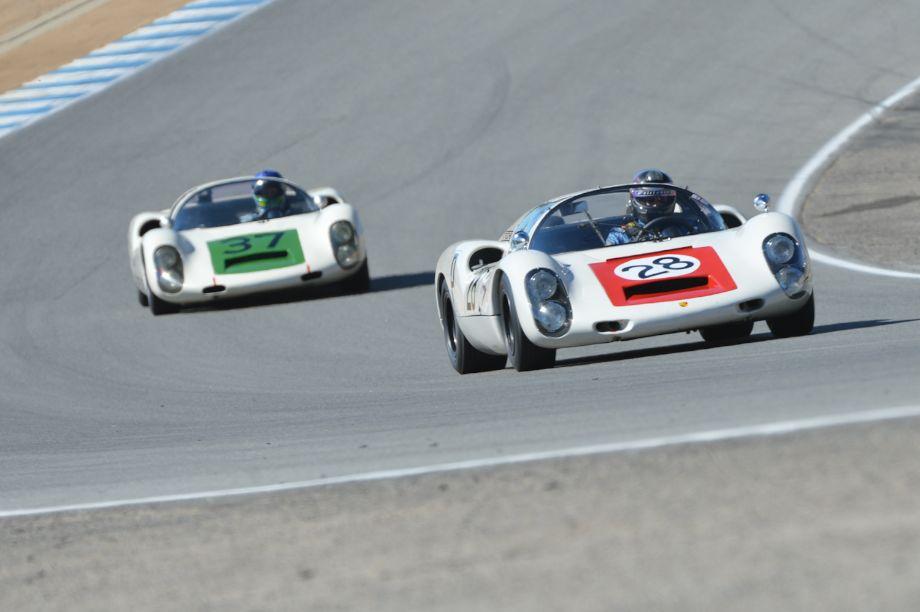 A pair of 1967 Porsche 910's.