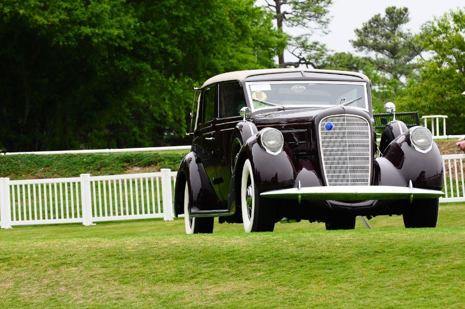 1937 Lincoln 12-cylinder Model K Cabriolet by LeBaron