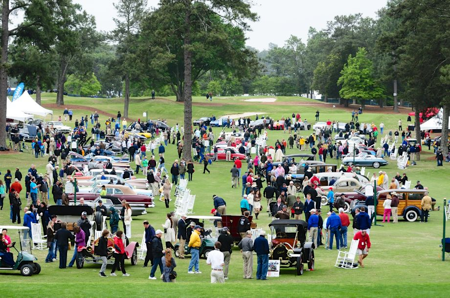 Healthy crowds at the inaugural Pinehurst Concours