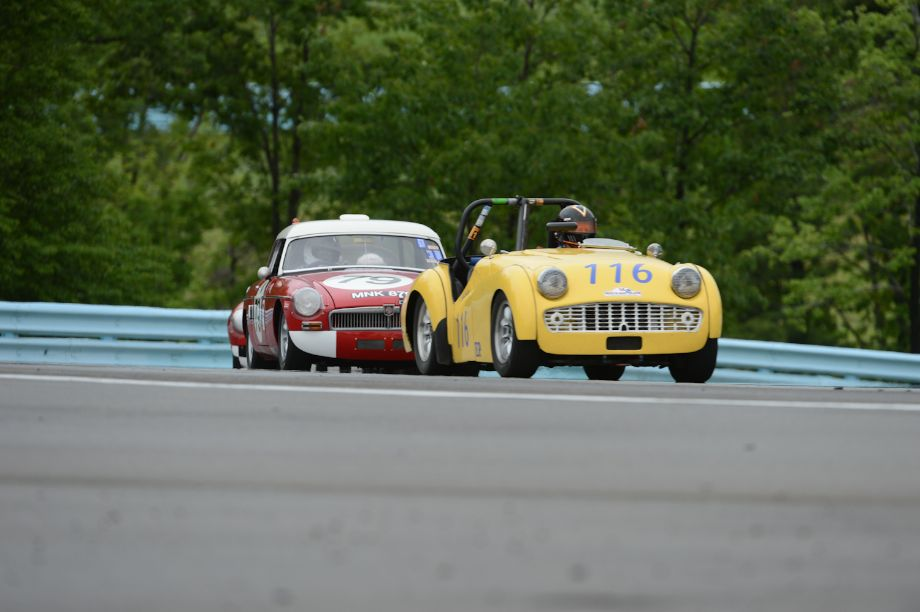 John Hasty- 1959 Triumph TR3A- and the 1964 MGB- Michael Kusch.