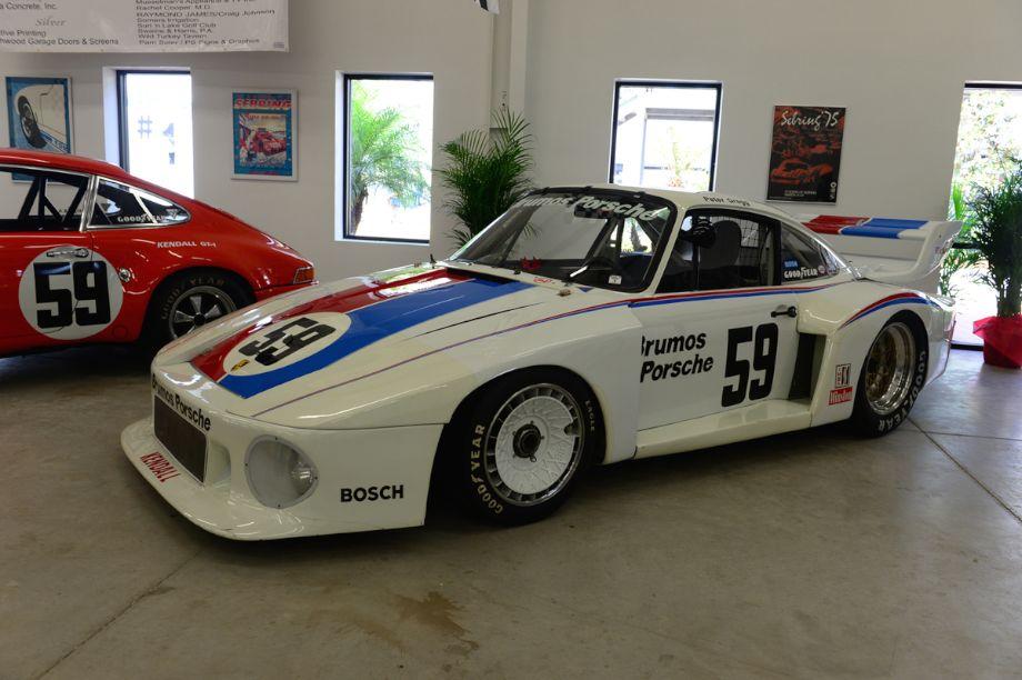 1979 Porsche 935, 3.0 liter twin turbo flat six cylinder producing 742 HP.