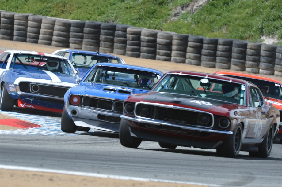 Tight Trans Am action at the Monterey Motorsports Reunion (photo: Michael DiPleco)