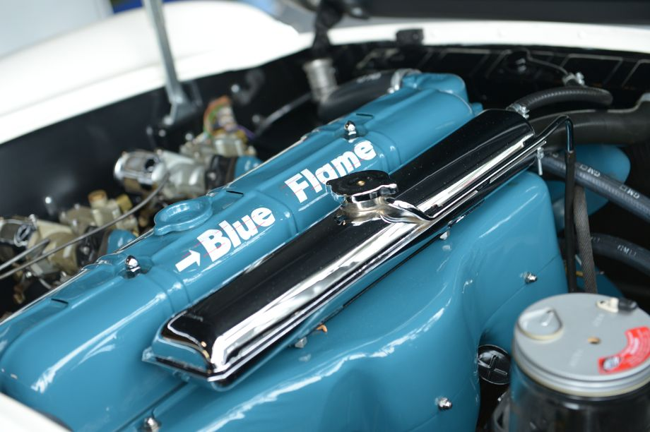 Blue Flame straight-six engine in Corvette