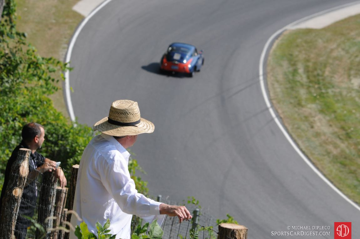 Many good viewing spots at Lime Rock