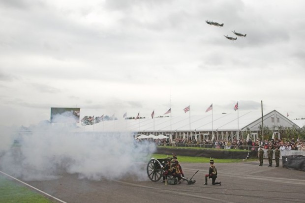 """A quad of Spitfires and a cannon report salute to""""The Few."""""""
