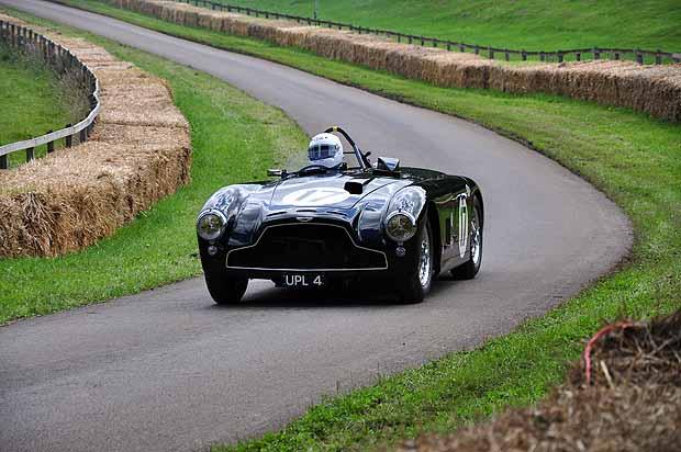 Martin Melling driving his 1952 Aston Martin DB3