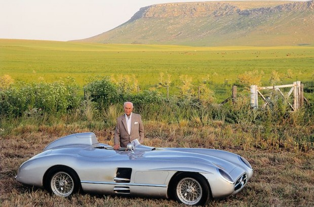 Juan Manuel Fangio with a 1955 Mercedes-Benz 300 SLR