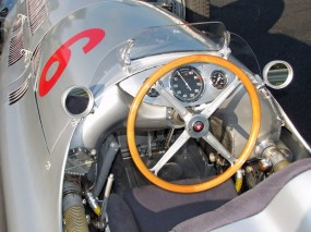 Cockpit of Mercedes-Benz W154 at Lime Rock
