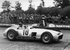 Mercedes-Benz W196 driven by Juan Manuel Fangio