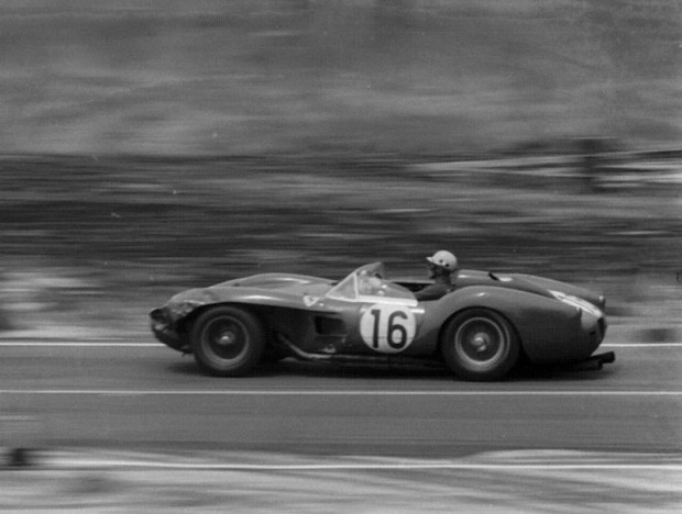 Luigi Musso in the Ferrari 250 TR (Chassis 0726TR). He and Gendebien recovered from the lap 3 incident to finish 2nd.