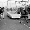 Paul Frere, Rico Steinmann, Dr. Hans Liebold and Guido Moch were the drivers of the Mercedes-Benz C 111-III when, on 29 April 1978 nine new world speed records were set up on the 12,56 km long circular test track at Nardo, in southern Italy.