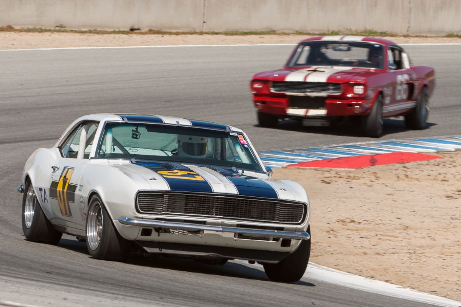 Chevrolet Camaro leads the Shelby GT 350