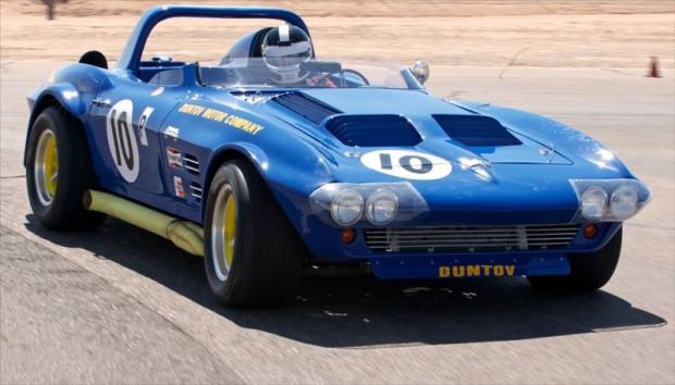 Bob Bondurant takes the Duntov 63 Grand Sport out. Bondurant School of High Performance Driving