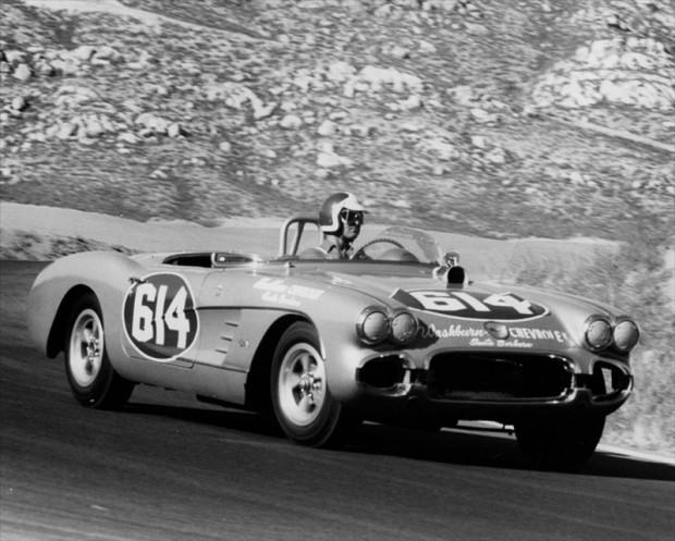 Riverside 1961 LA Times Grand Prix, Bob Bondurant, Corvette