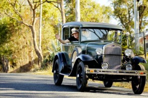 Rod Wade in his 1930 Ford Model A