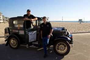 Rod Wade and co-driver Michael Flanders at Venice Beach