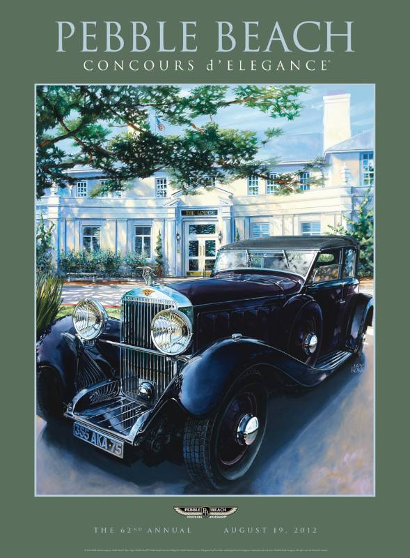 Pebble Beach Concours D Elegance Posters For Sale