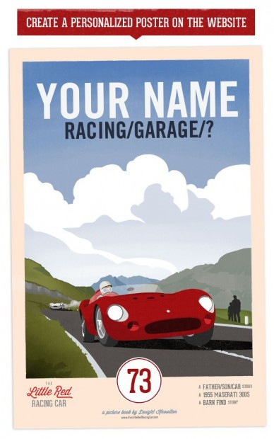 Little Red Racing Car Poster