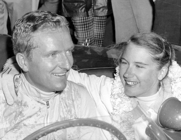 I took this shot of Pete Lovely and his wife after he won the semi-main for modified cars under 1500cc at the Grand Central Sports Car Races (airport in Glendale, CA) in his Pooper.