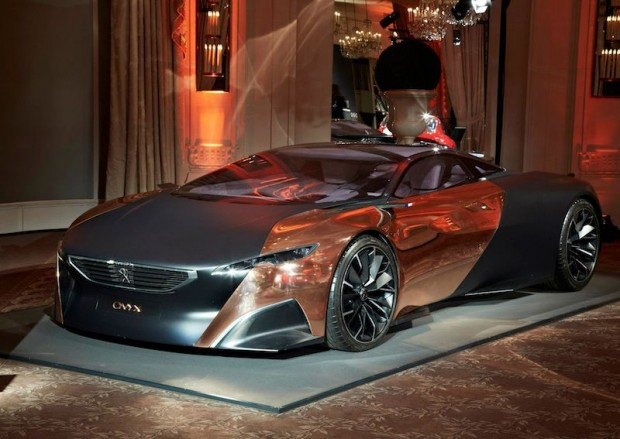The Peugeot Onyx concept car, winner of the Louis Vuitton Classic Concept Award. This award is given to the prototype that is most likely to win at least one major competition dedicated to elegance within the following forty years.