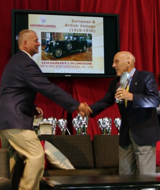Sir Stirling Moss and Bob Lorkowski, winner of Best of Show