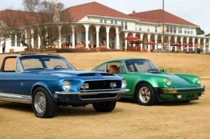 1968 Shelby Mustang KR500 and 1976 Porsche Turbo Carrera