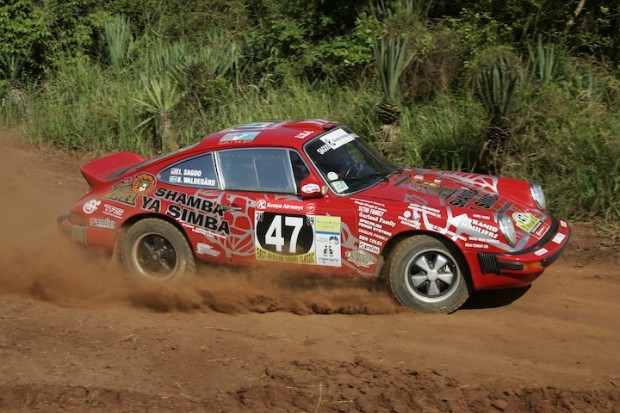 Porsche 911 driven by legend Bjorn Waldegard finished 2nd overall
