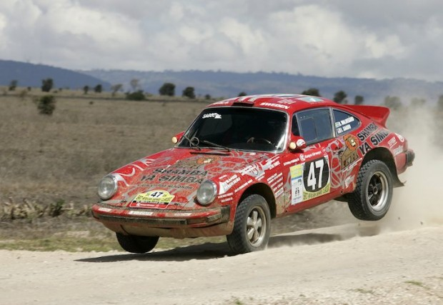Bjorn Waldegard lands his Porsche 911