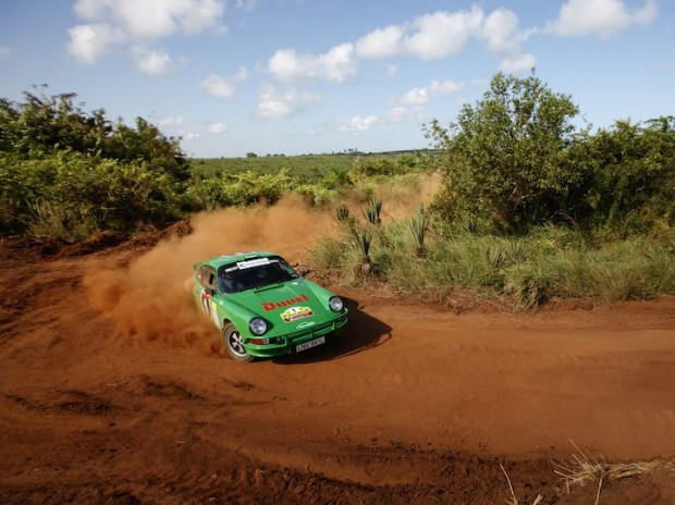 Porsche 911 of Gerard Marcy and Stephane Prevot finished 4th overall