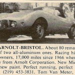 1955 Arnolt-Bristol – Classic Cars for Sale