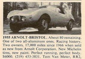 Arnolt-Bristol For Sale
