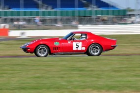 Ralf Huber Gutierrez in his Chevrolet Corvette. Photo: Simon Wright