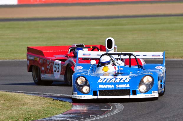 Rob Hall Matra 670 takes the lead. Photo: Simon Wright