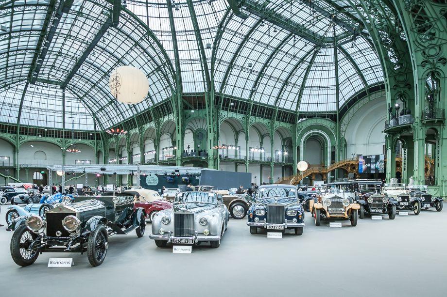 Rolls-Royces lineup at Bonhams Grand Palais