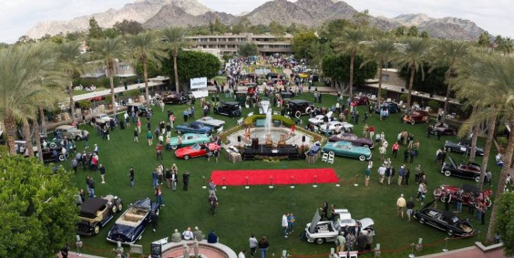 Rooftop view of the 2015 Arizona Concours d'Elegance (photo: Ken Bryant)
