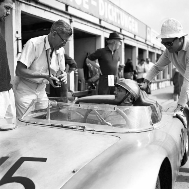 Hans Herrmann, driver of the Porsche 718 RSK