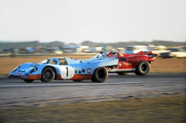 Jo Siffert Porsche 917K, Ferrari 512S of Tony Adamowicz.