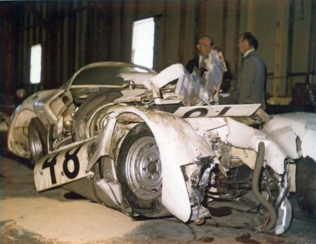 Don Wester Porsche 906, 12 Hours of Sebring wreck 1966