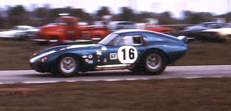 Shelby Cobra Daytona Coupe of Lew Spencer, Jim Adams and Phil Hill finished 21st.