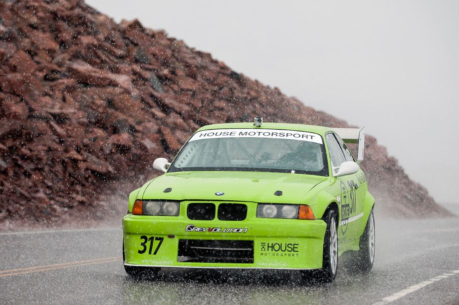 Hail greeted the 1992 BMW 325i of Jamie Melhuish