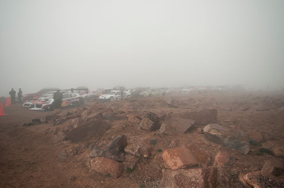 Fog sets in at the summit