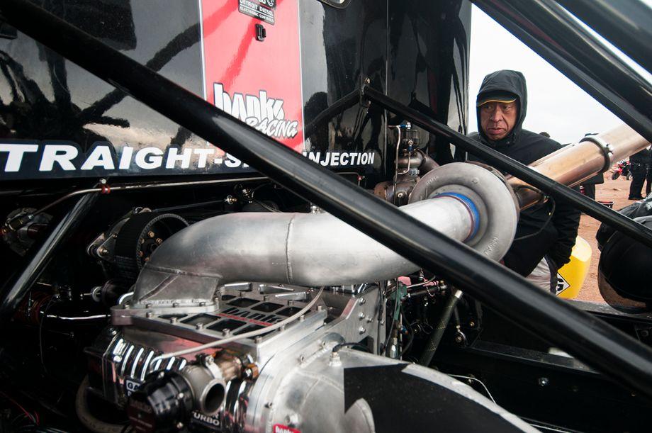 Nobuhiro Tajima checks out the 2008 Freightliner Pikes Peak Special