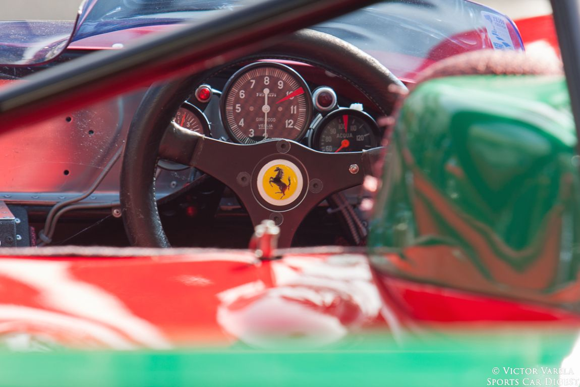Cockpit of the 1972 Ferrari 312 PB - 0892