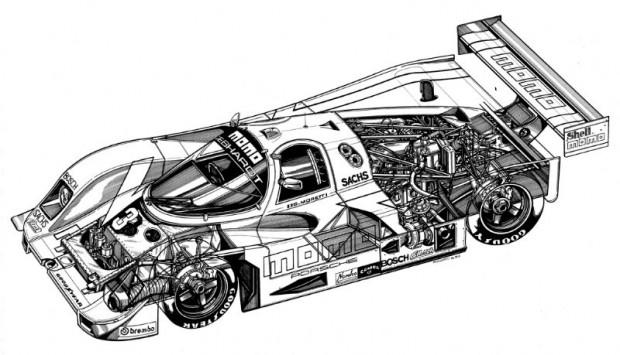 Porsche 962-1989.   - d'Alessio artwork.